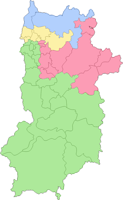 奈良県エリア色分け地図